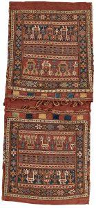 Shahsavan soumakh double bag - 19th century - 134 x 058 cm - Sold