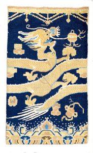 Ningxia pillar rug - published Hermann VII- mid 19 century - 157 x 94 cm - Sold
