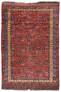 Antique Beshir cloudband rug