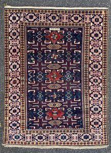 Caucasian Shirvan rug dated 1291 - 1874 - 133 x 98 cm