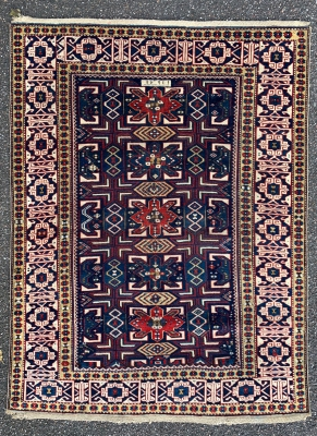 Caucasian Shirvan rug dated 1291 - 1874 - 133 x 98 cm