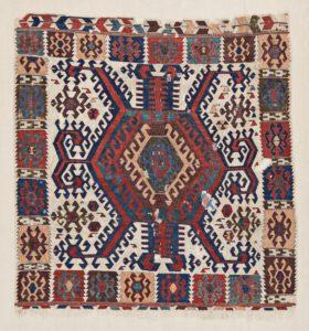 Antique anatolian hotamis kilim