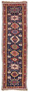 Antique persian Karadja long rug