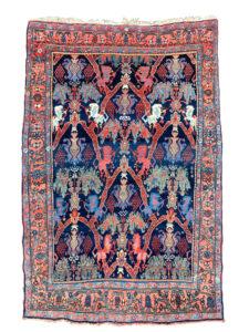 antique bidjar lion rug persian