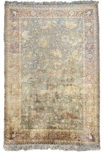 Animal Hunting scene Kayseri carpet antique