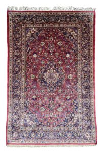 Persian Kashan Silk rug antique