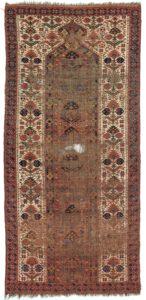 Antique Turkmen Beshir prayer rug